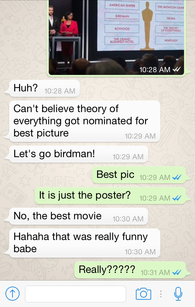 Being Dumb with the Oscars