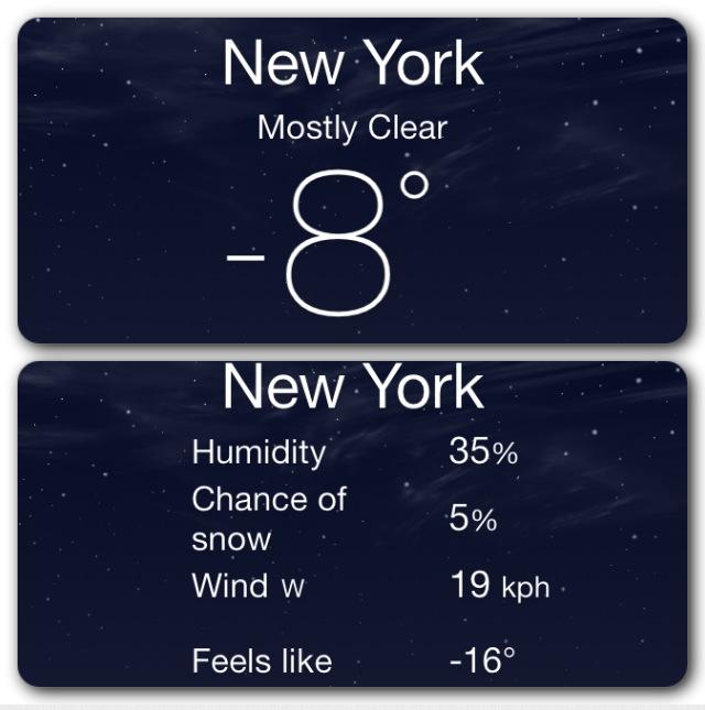 La Valise en hiver à New York